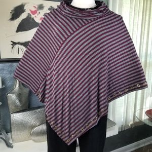 BELLDINI EMBELLISHED COWLNECK PONCHO SIZE 1 X